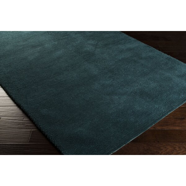 Tully Teal Green/Peacock Green Area Rug by Red Barrel Studio