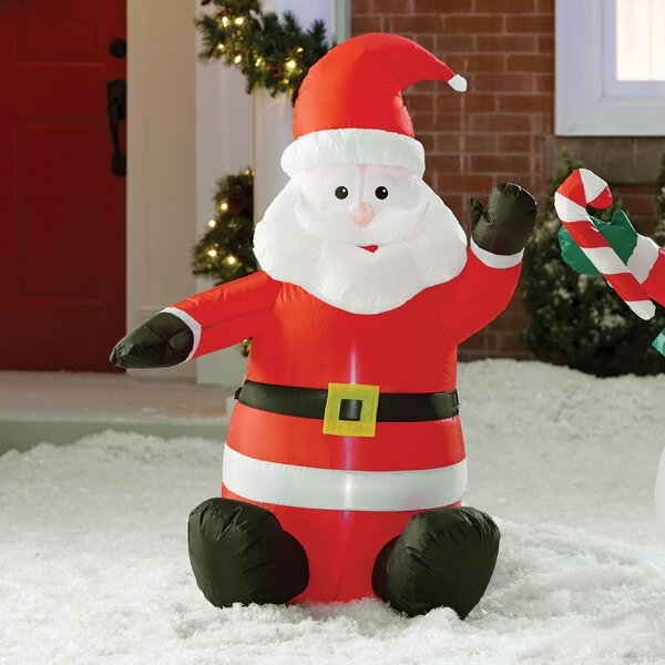 outdoor christmas decorations youll love wayfair - Santa Train Outdoor Christmas Decoration