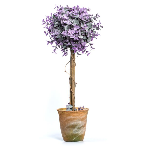 Leaf Single Flowering Topiary in Pot by Ragon House Collection