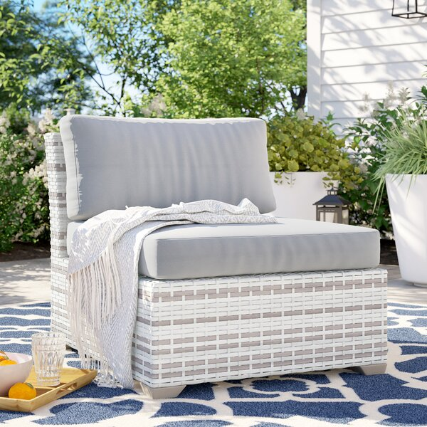 Falmouth Armless Patio Chair with Cushions by Sol 72 Outdoor