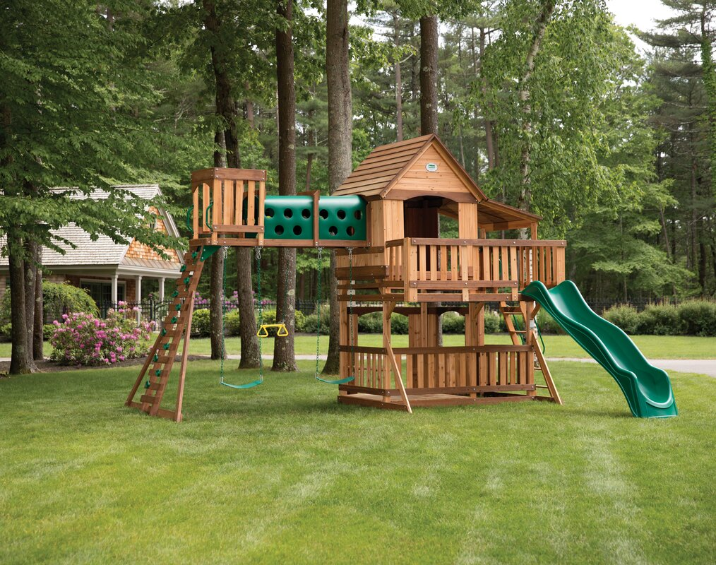 Woodridge Elite All Cedar Wooden Swing Set