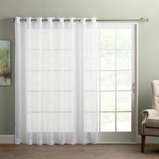sliding window curtains short quickview sliding door curtains wayfair