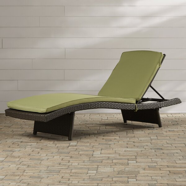 Valery Chaise Lounge with Cushion by Highland Dunes