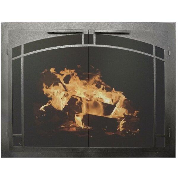 Elegant Series Cabinet Style Steel Fireplace Door By Ironhaus, Inc.