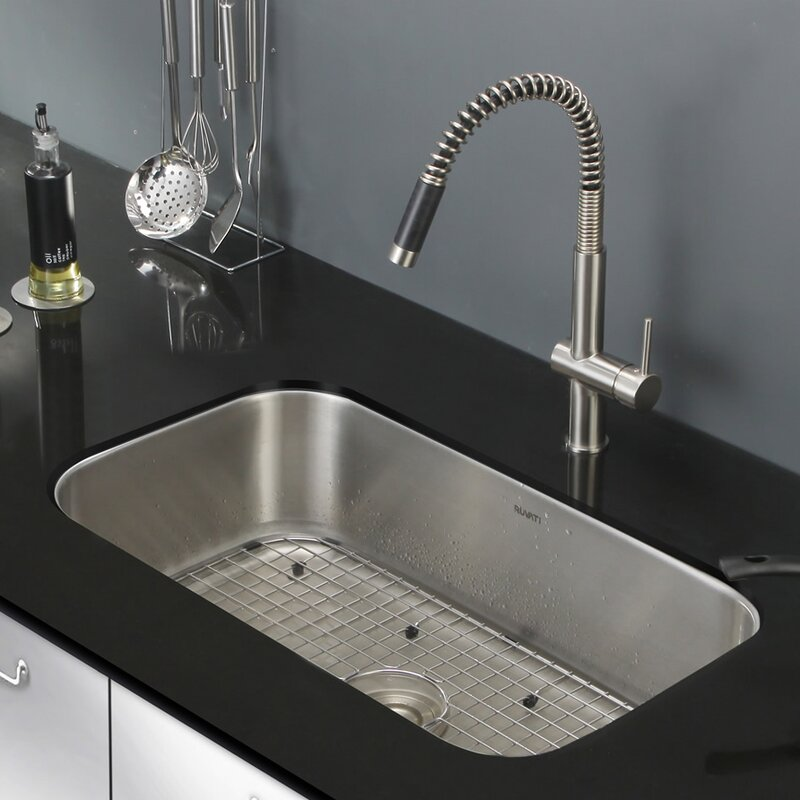 parmi 30   x 18 16   undermount 16 gauge single bowl kitchen sink ruvati parmi 30   x 18 16   undermount 16 gauge single bowl kitchen      rh   wayfair com