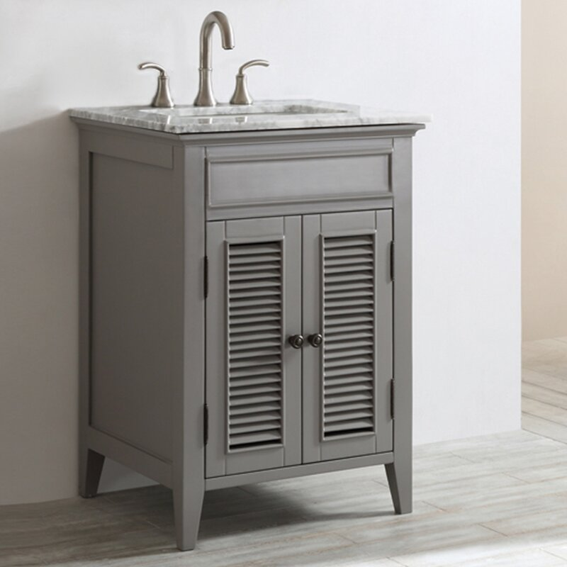 Laurel Foundry Modern Farmhouse Grovetown Single Bathroom Vanity - Bathroom vanities delray beach fl