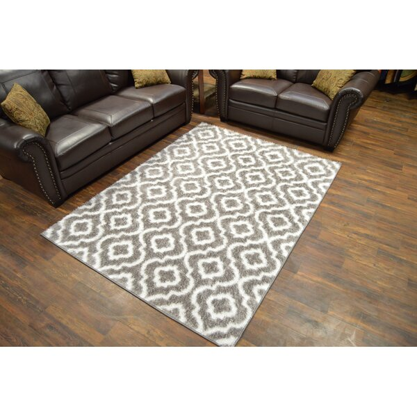 Rauch Shaggy Gray Area Rug by Bloomsbury Market