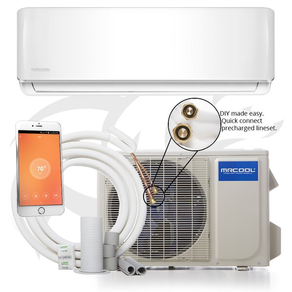 DIY 12,000 BTU Energy Star Through the Wall Air Conditioner with Remote and WiFi Control by MrCool