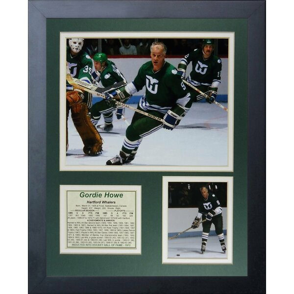 Gordie Howe - Hartford Whalers Framed Memorabilia by Legends Never Die