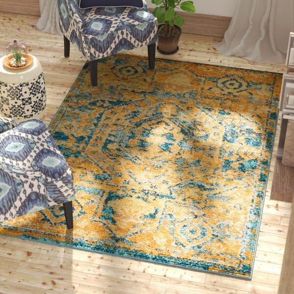 Shez Teal/Sun Indoor Area Rug by Willa Arlo Interiors