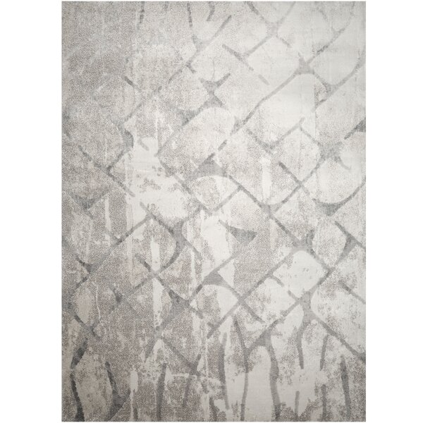Roma Diamond Gray Area Rug by Christian Siriano