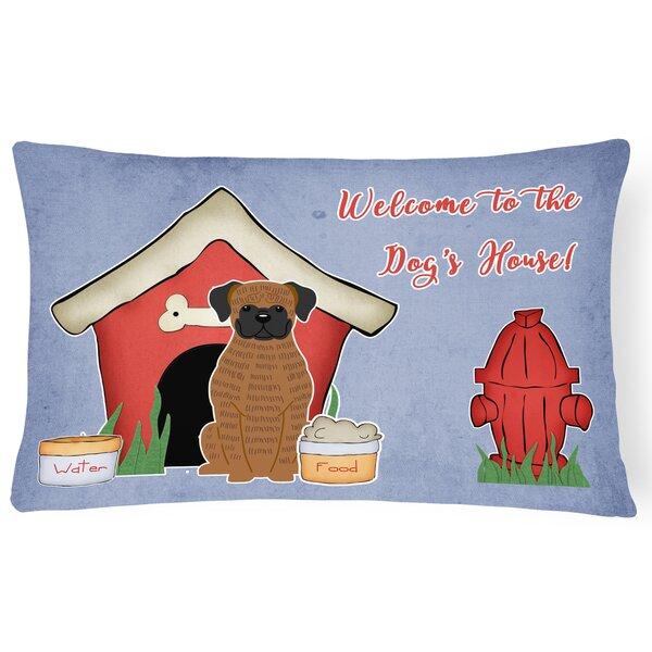 Dog House Modern Handmade Indoor/Outdoor Fabric Lumbar Pillow by East Urban Home