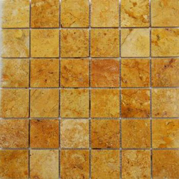 2 x 2 Travertine Mosaic Tile in Gold by Epoch Architectural Surfaces