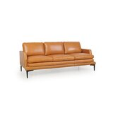 Whitmire Genuine Leather 75 Recessed Arm Sofa by Foundry Select