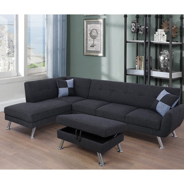 Blackstone Modular Sectional with Ottoman by Ebern Designs
