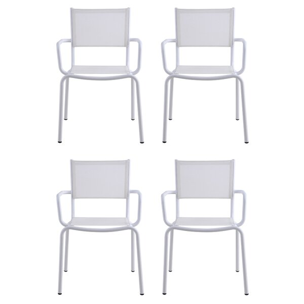 Ventura Stacking Patio Dining Chair (Set of 4) by Latitude Run