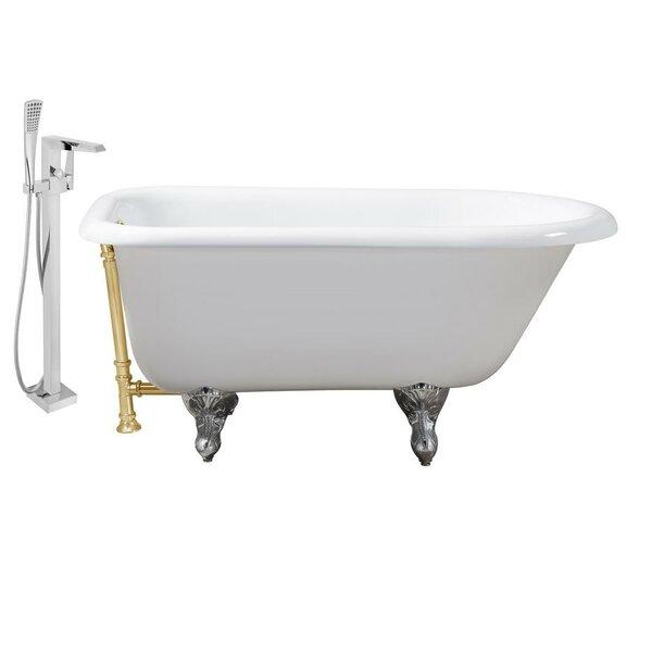 Cast Iron 48 x 30 Clawfoot Soaking Bathtub by Streamline Bath