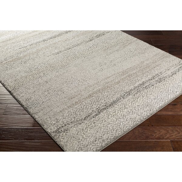 Edmeston Gray/Neutral Abstract Area Rug by George Oliver