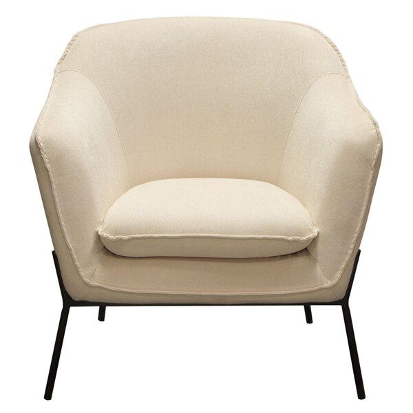 Desimone Armchair with Metal Leg by Diamond Sofa Diamond Sofa