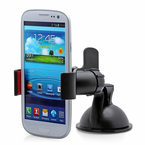 Easy Mount Suction Universal Car Phone Mount by Symple Stuff