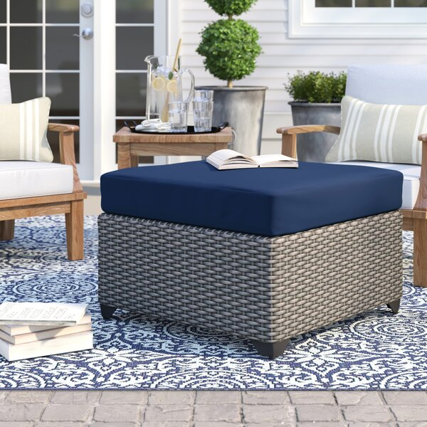 Merlyn Outdoor Ottoman with Cushion by Sol 72 Outdoor
