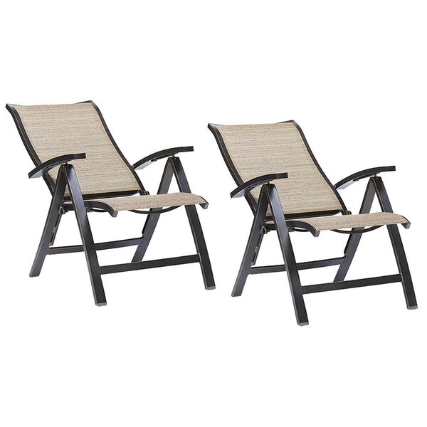 Folding Chairs With Arm Patio Dining Chairs Indoor And Outdoor Furniture 2 Pcs (Set of 2) by Ebern Designs