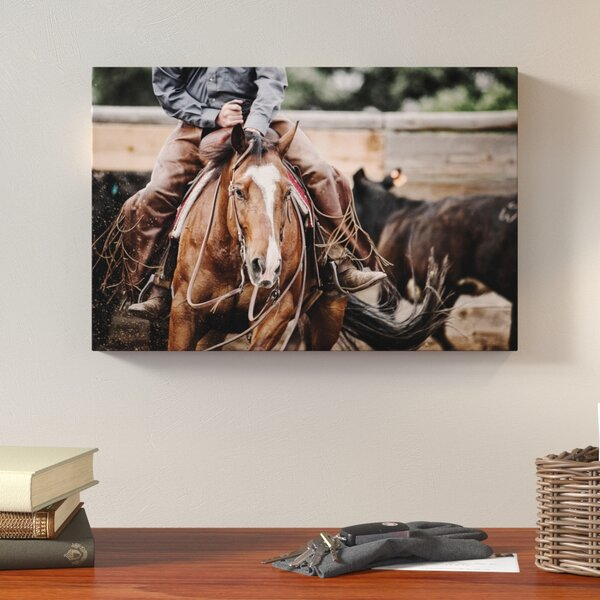 Cutting Horse Photographic Print on Wrapped Canvas by Loon Peak