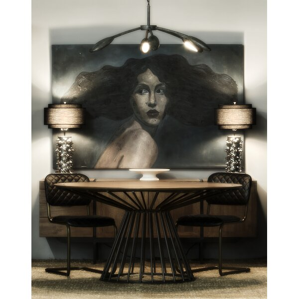 Thomas Solid Wood Dining Table by Noir