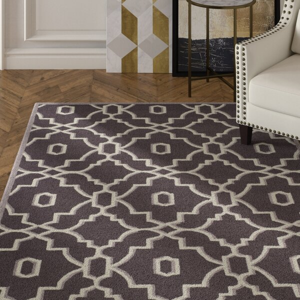 Dwight Dark Gray/Ivory Area Rug by Mercer41