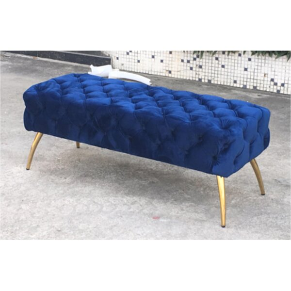 Centeno Button-Tufted Upholstered Bench by Mercer41