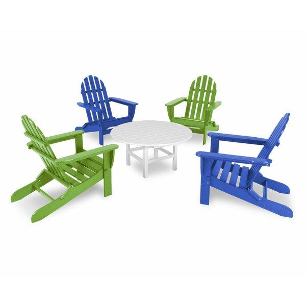 Classic Folding Adirondack 5-Piece Conversation Group by POLYWOOD®