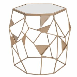 Kaelyn Drum End Table by Ivy Bronx
