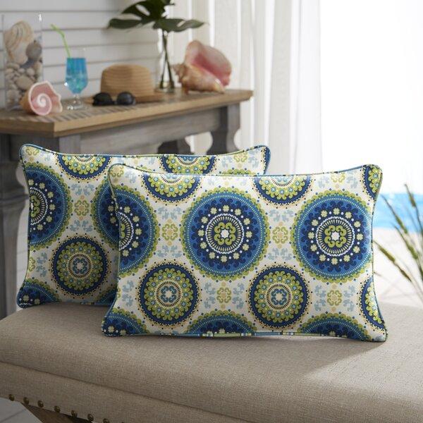 McNamara Indoor/Outdoor Lumbar Pillow (Set of 2) by Bloomsbury Market