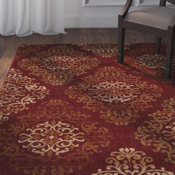 Mckee Burgundy Area Rug by Astoria Grand