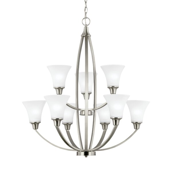 Irvona 9 - Light Shaded Tiered Chandelier by Darby Home Co Darby Home Co