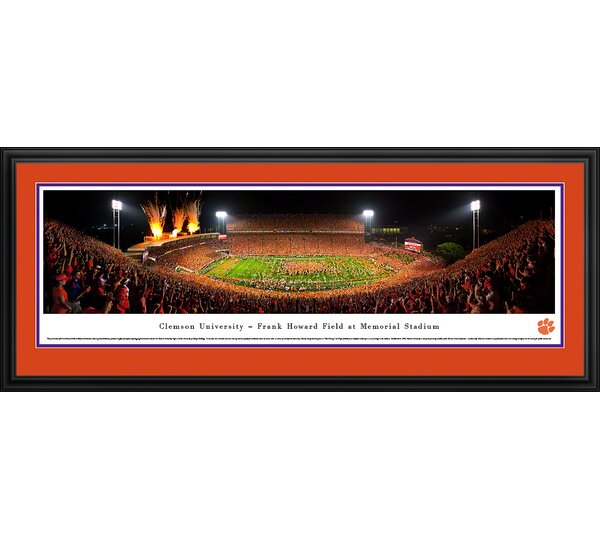 NCAA Clemson University - Celebration by James Blakeway Framed Photographic Print by Blakeway Worldwide Panoramas, Inc