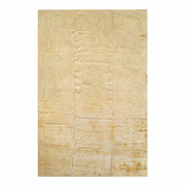 One-of-a-Kind Nickie Hand-Knotted Beige/Green 11'6 x 17'11 Area Rug