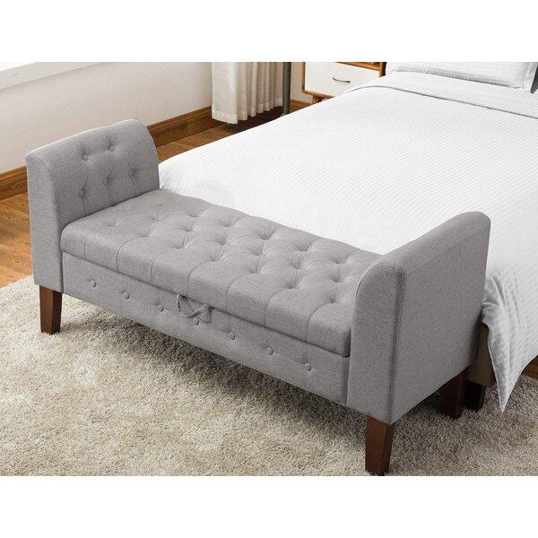 Battle Upholstered Storage Bench by Red Barrel Studio