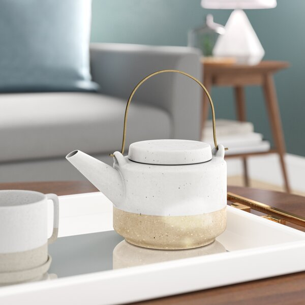 Bevill Ceramic Teapot by Langley Street