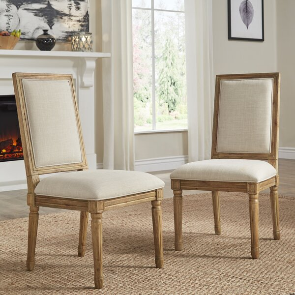 Lachance Rectangular Upholstered Dining Chair (Set of 2) by Ophelia & Co.