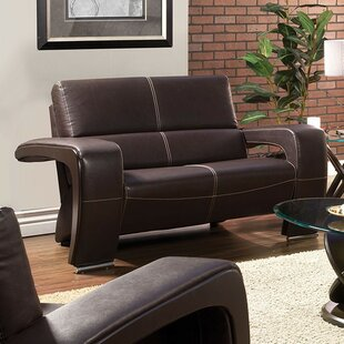 Brutus Leather Loveseat
