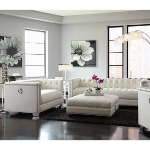 Pisco 3 Piece Faux Leather Living Room Set by Everly Quinn