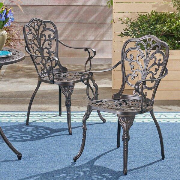 Storey Patio Dining Chair (Set of 2) by Fleur De Lis Living