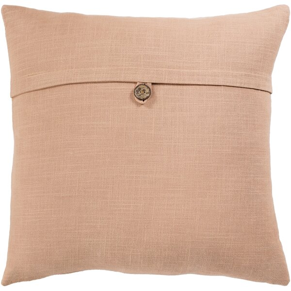 Divisadero Solid and Border Cotton Throw Pillow by August Grove