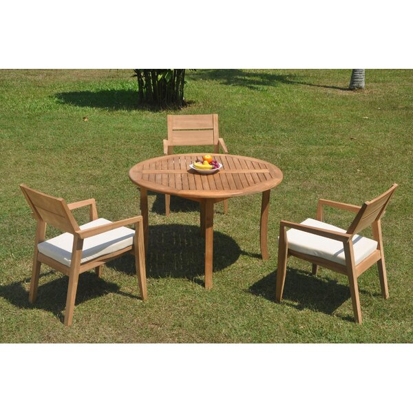 Reposa 4 Piece Teak Dining Set by Rosecliff Heights