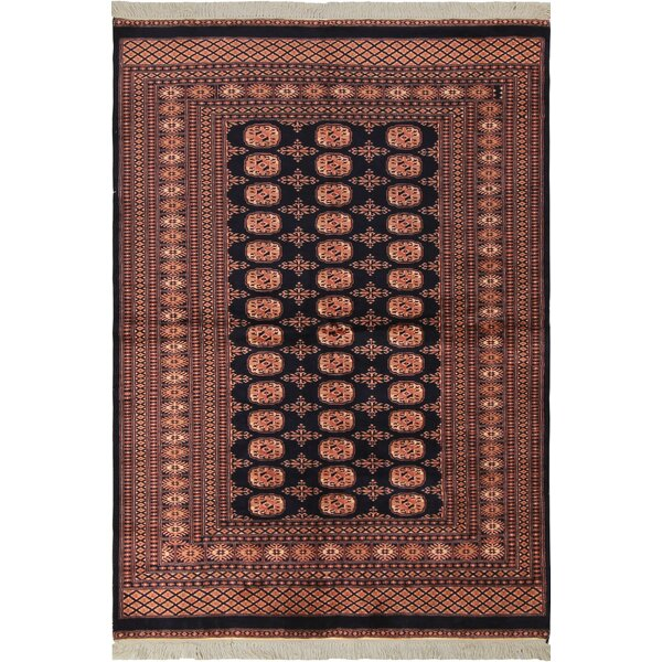 One-of-a-Kind Tanaquil Hand-Knotted Wool Blue/Pink Area Rug by Bloomsbury Market