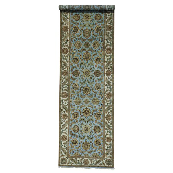 Rajasthan Gallery Hand-Knotted Blue Area Rug by Bloomsbury Market