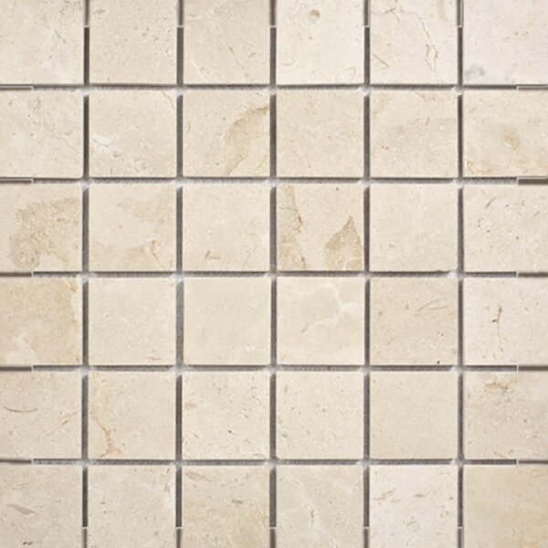 Crema Marfil 2 x 2 Stone Mosaic Tile Polished by Parvatile