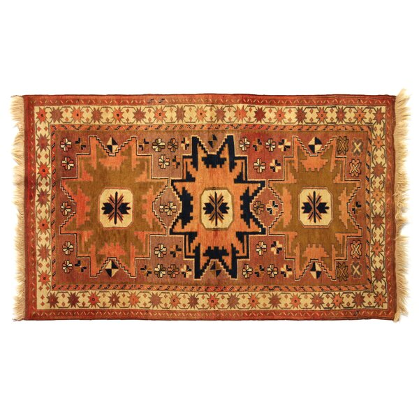 One-of-a-Kind Hand-Woven Wool Brown/Beige Area Rug by Exquisite Rugs