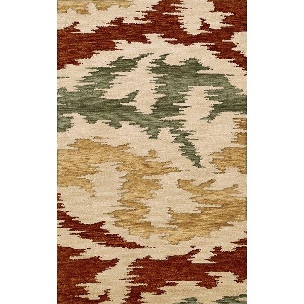 Bella Machine Woven Wool Brown/Green/Beige Area Rug by Dalyn Rug Co.
